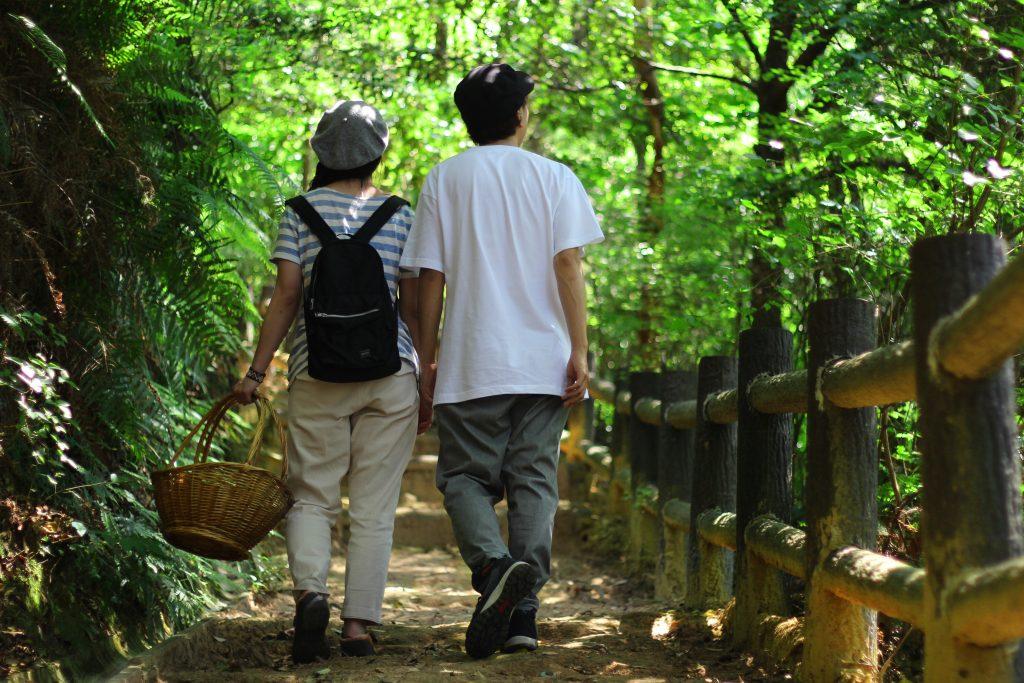 琴平公園の展望台への道